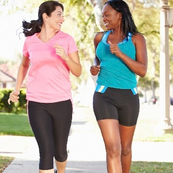 Women exercising to reduce cancer risk