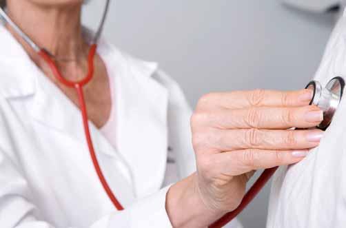 internal medicine doctor checking up